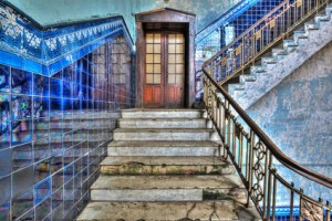 Staircase in an old stylish plant. HDR-high dynamic range © fotorince - Fotolia