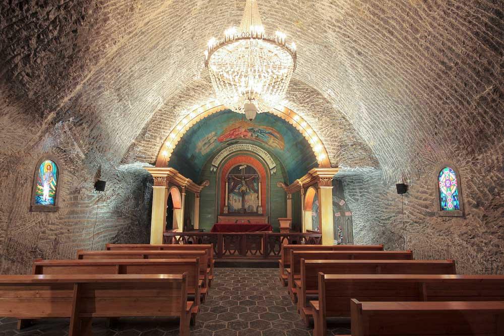 Wieliczka-Kirche unter der Erde. Foto: Polnisches Fremdenverkehrsamt