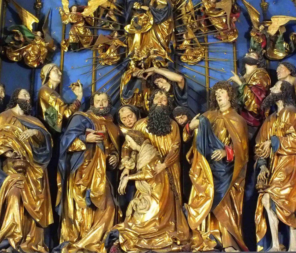 Zu sehen sind Details des Marienaltars der Krakauer Marienkirche, Bild: Aw58