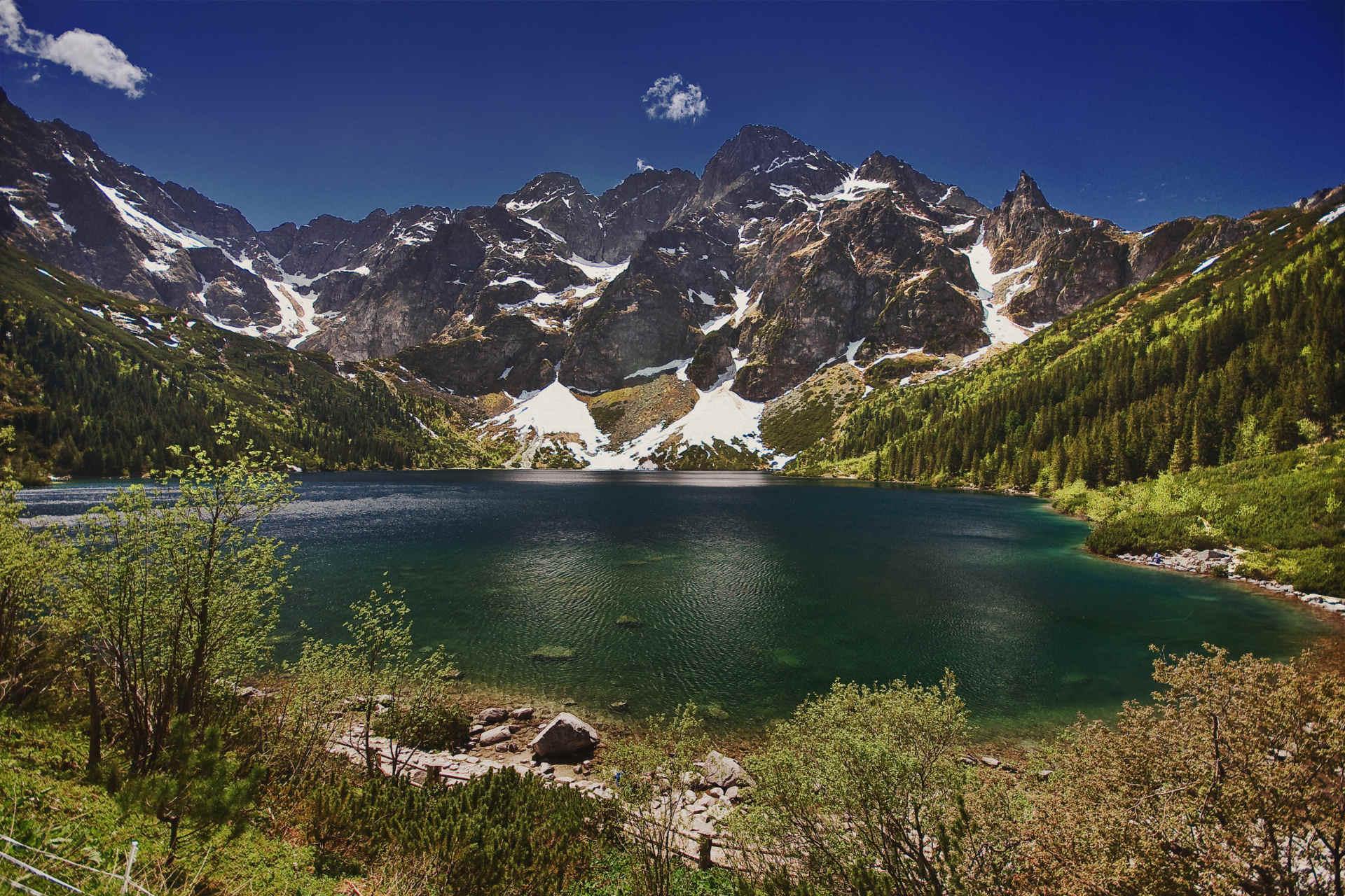 """Zu sehen ist der Bergsee """"Meerauge"""" in der Hohen Tatra. Bild: Aneta Pawska"""