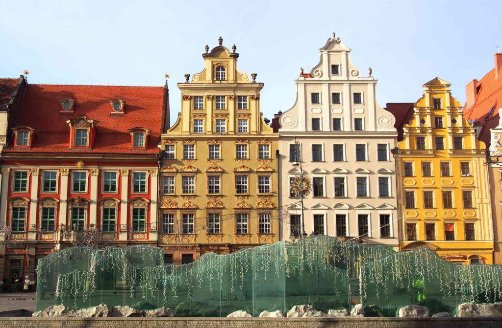 Zu sehen sind historische Häuser am Marktplatz in Breslau, Bild: Erdmann
