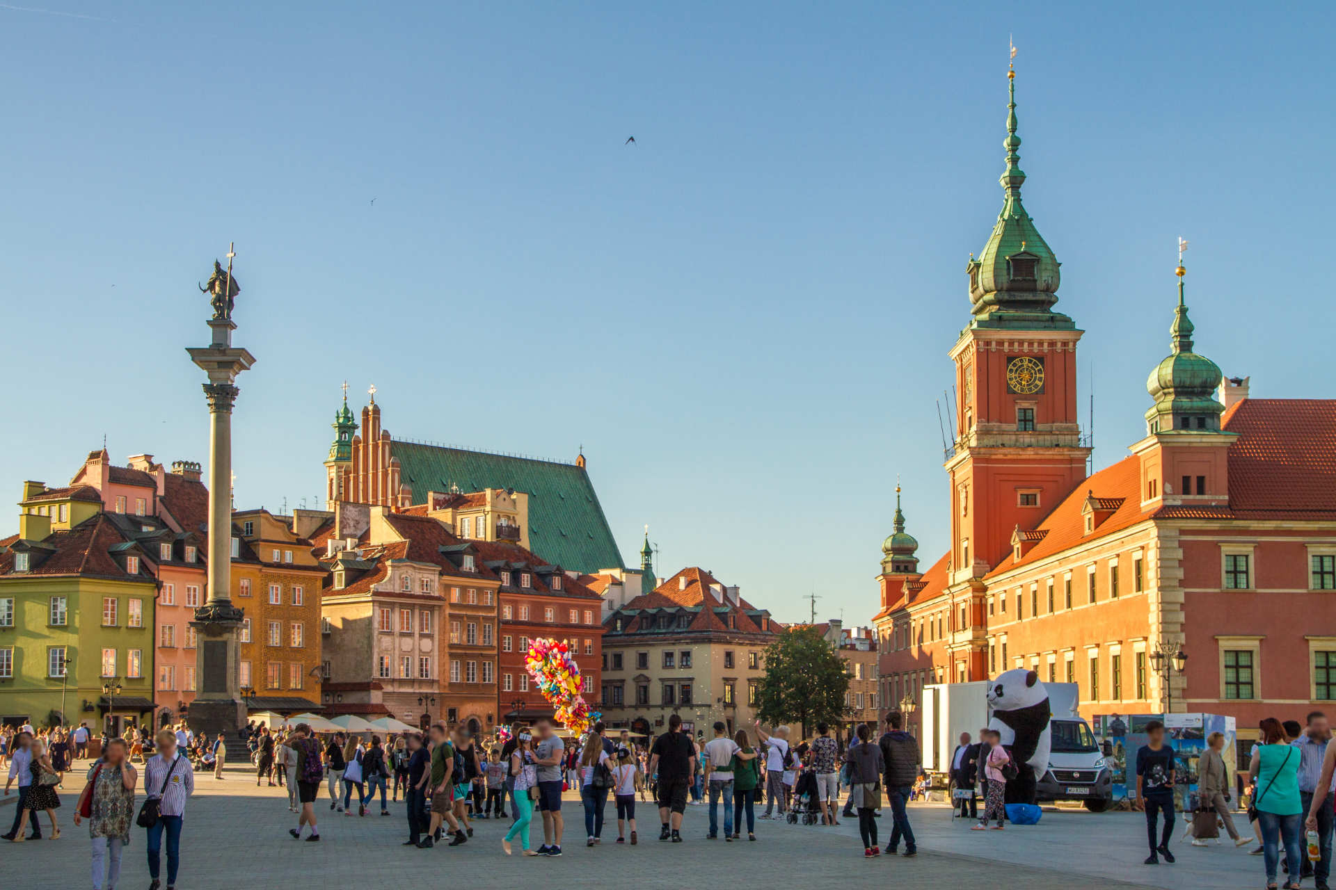 Zu sehen ist der Warschauer Schlossplatz, Bild: Maksym Kozlenko