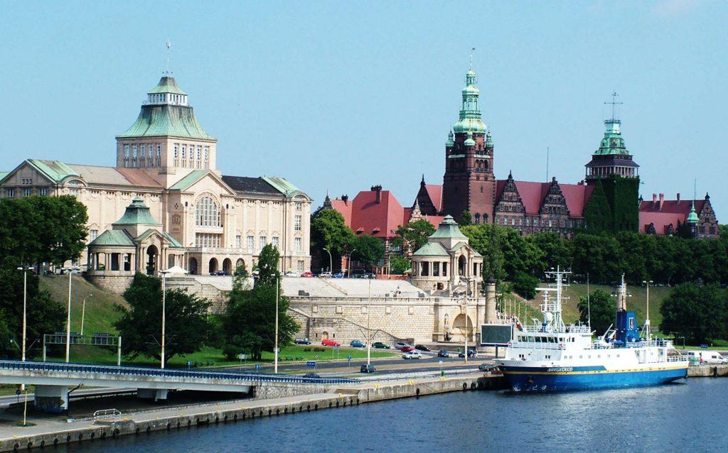 Zu sehen ist die Hakenterrasse in Stettin, Bild: Horvat
