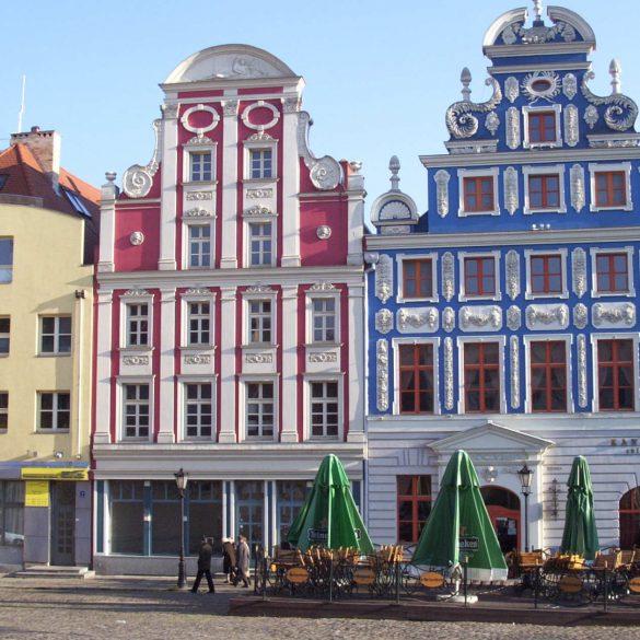 Zu sehen sind Fassaden in der Stettiner Altstadt, Bild: Prohibit Onions