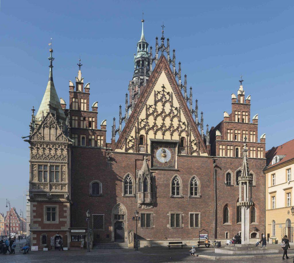 Zu sehen ist das Breslauer Rathaus, Bild: Jacek Halicki
