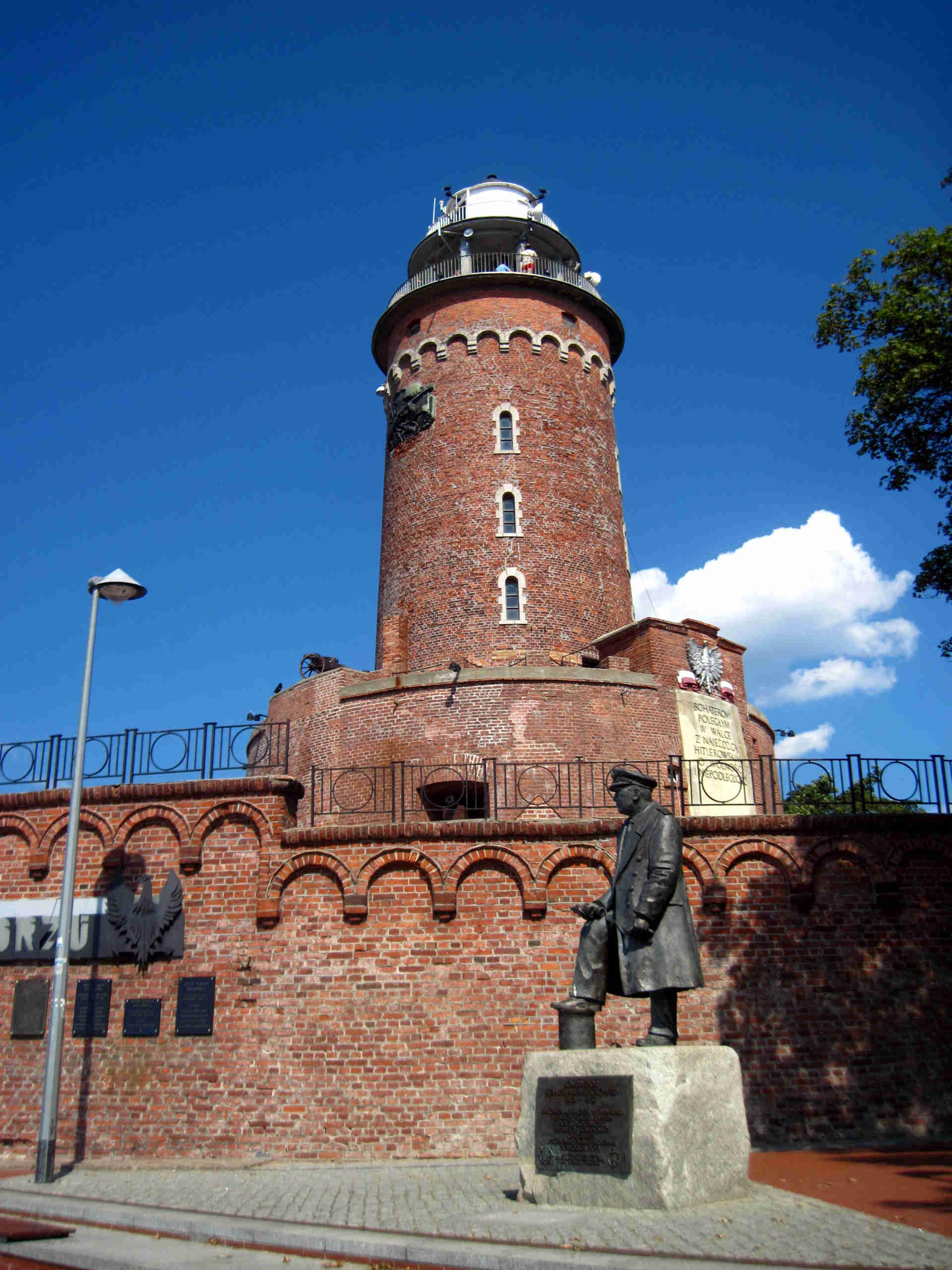 Zu sehen ist Kolbergs Leuchtturm, Bild: Mirand