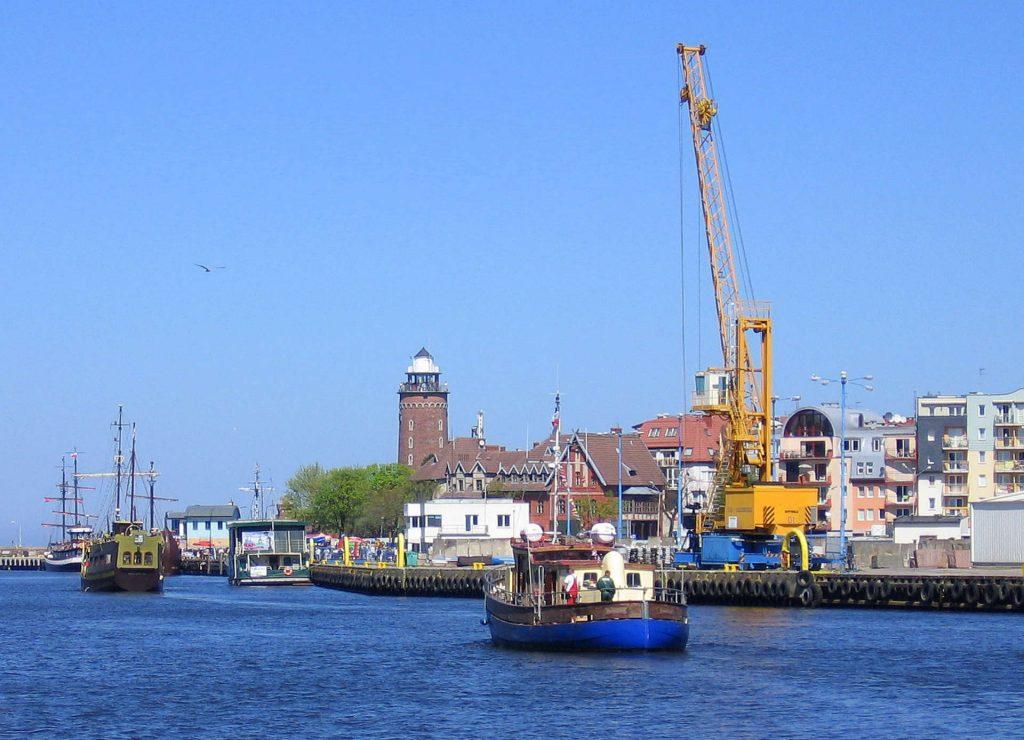 Zu sehen ist der Kolberger Hafen, Bild: Jdavid