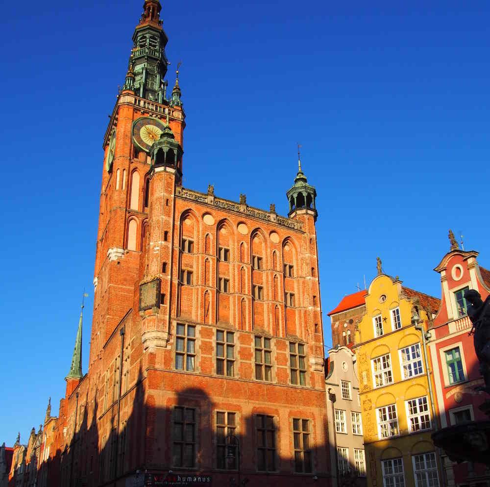Zu sehen ist das Rechtsstädtische Rathaus Danzig. Bild: Erdmann