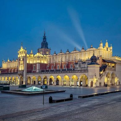 Zu sehen sind die Tuchhallen in Krakau. Bild: Tomasz Lewandowski