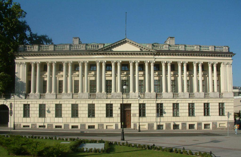 Zu sehen ist die Raczyńskische Bibliothek in Posen, Bild: Radomil-talk