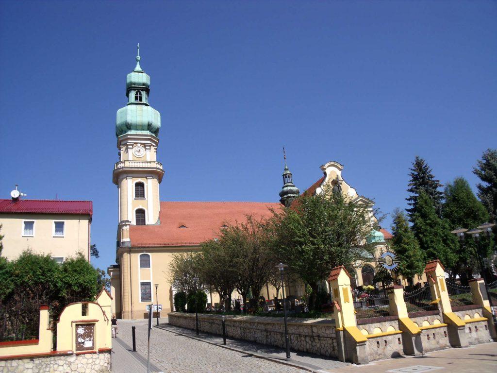 Zu sehen ist die Maria Magdalena Kirche in Tychy, Bild: Olerys