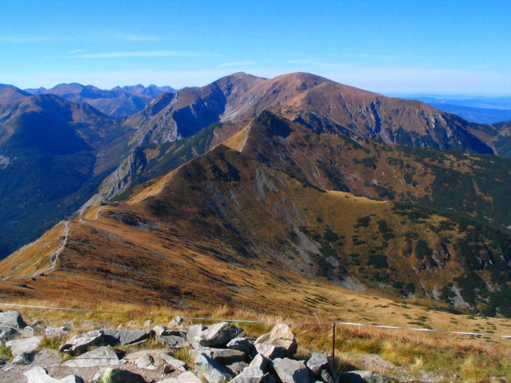 Zu sehen ist ein Blick vom Gipfel des Kasprowy Wierch, Bild: marek7400