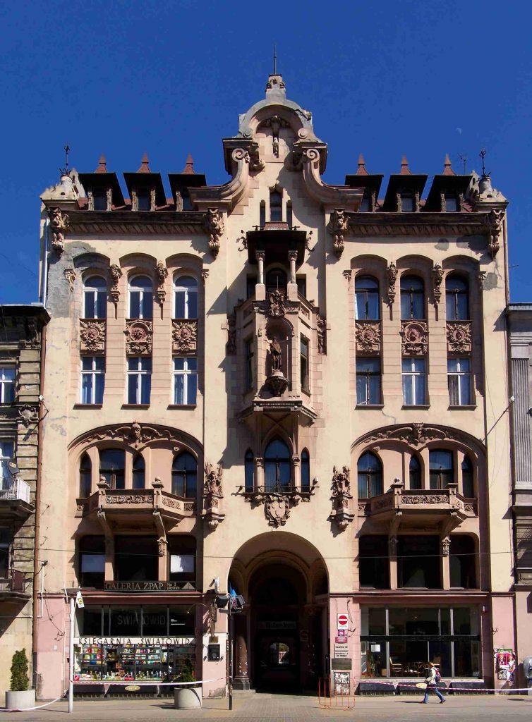 Zu sehen ist das ehemalige Haus des Verlegers Johann Petersilge in Łódź, Bild: Lestat Jan Mehlich scaled