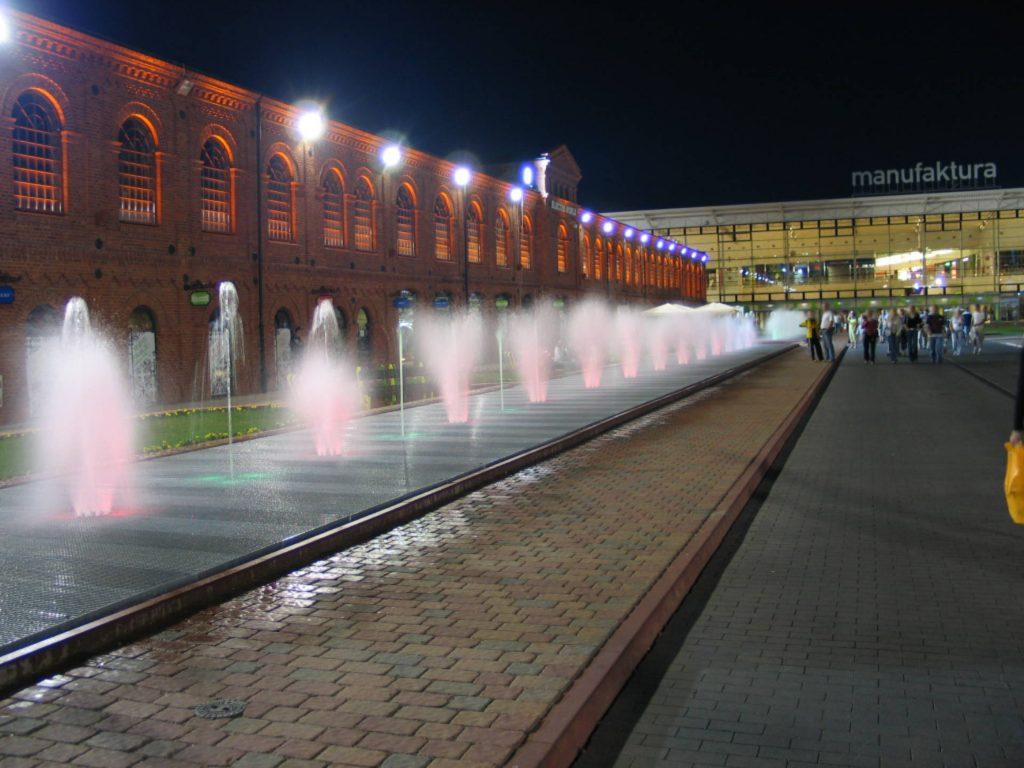 Zu sehen ist das Manufaktura Gelände in Łódź, Bild: HuBar