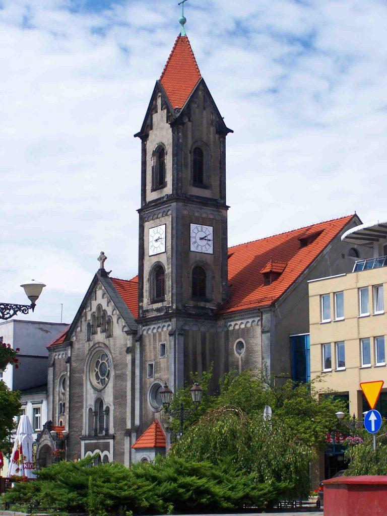 Zu sehen ist die Evangelisch Augsburgische Kirche in Tarnowitz, Bild: Lestat Jan Mehlich