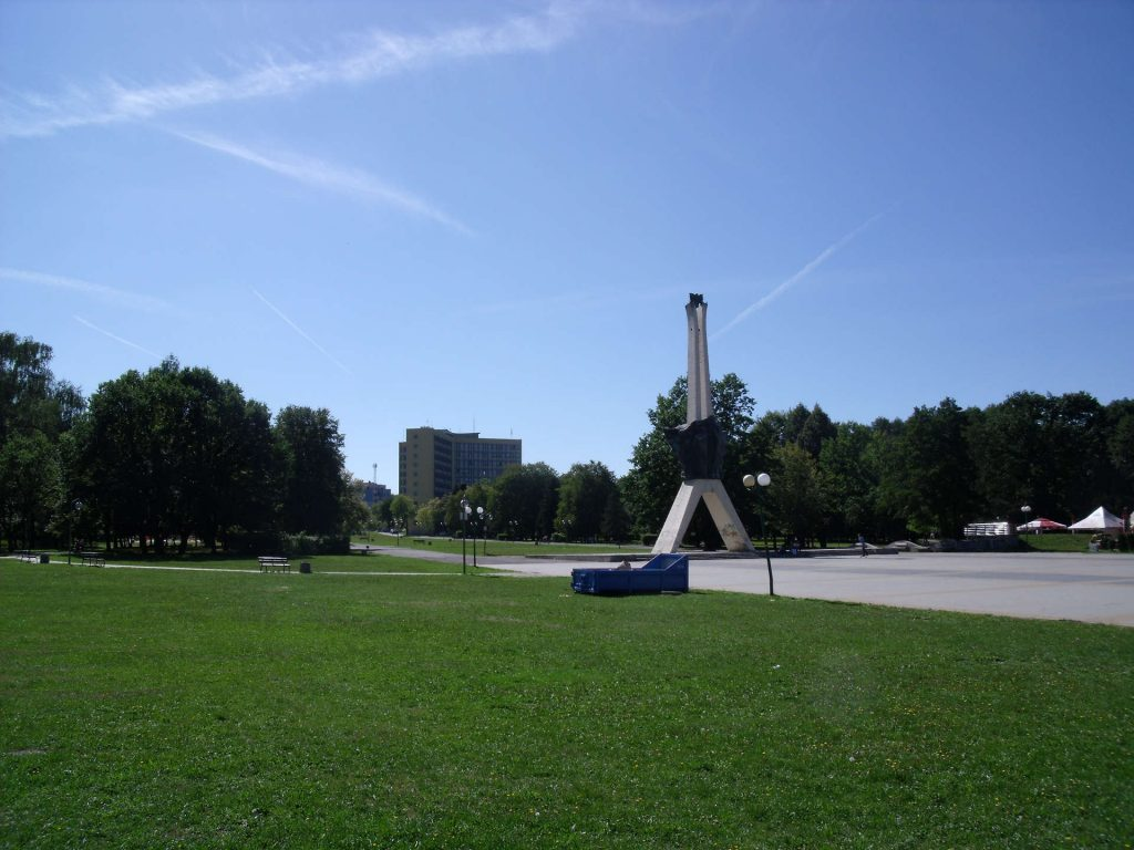 Zu sehen ist der Zentralpark von Tychy, Bild: Olerys