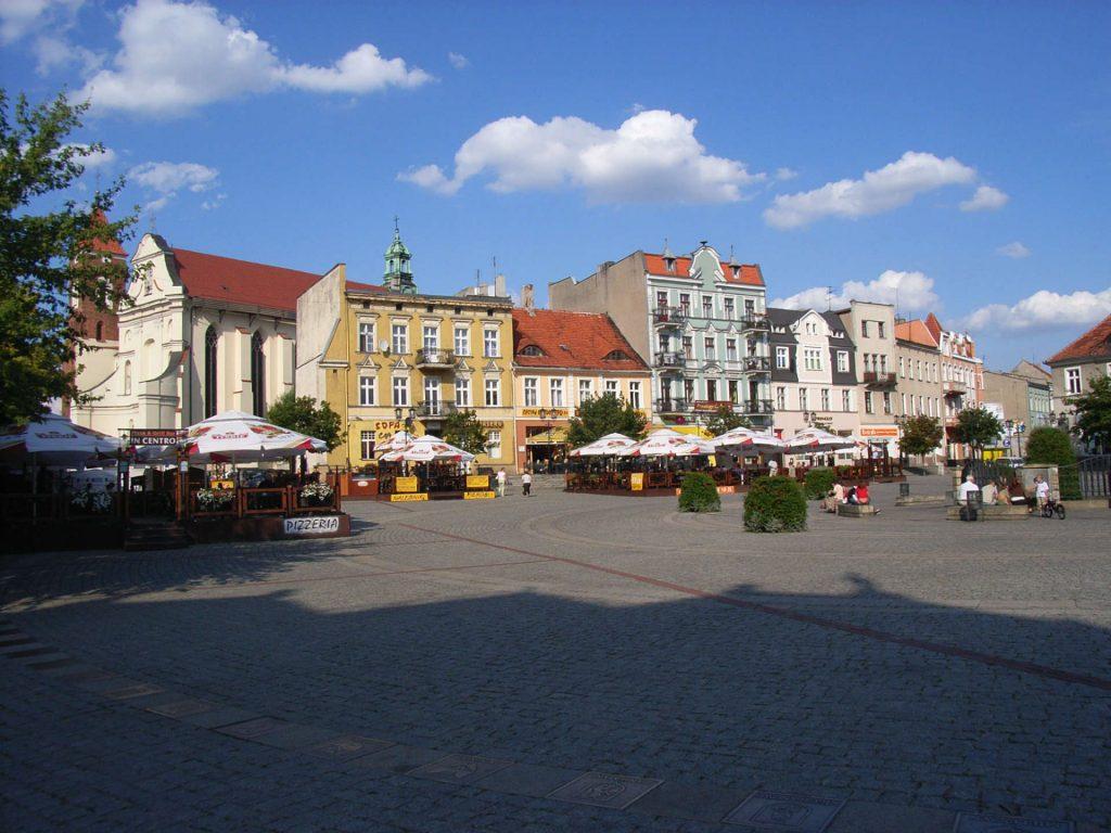 Zu sehen ist der Gnesenener Marktplatz, Bild: Südstädter