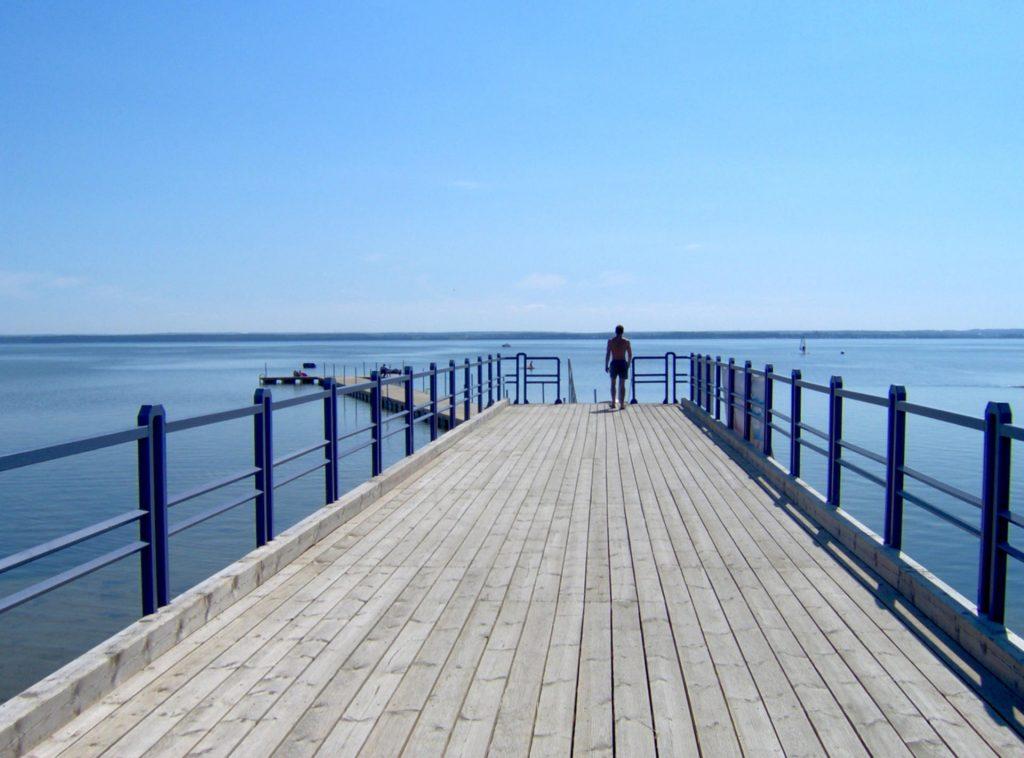 Zu sehen ist die Seebrücke von Ceynowa, Bild: Krzysztof assumed based on copyright claims