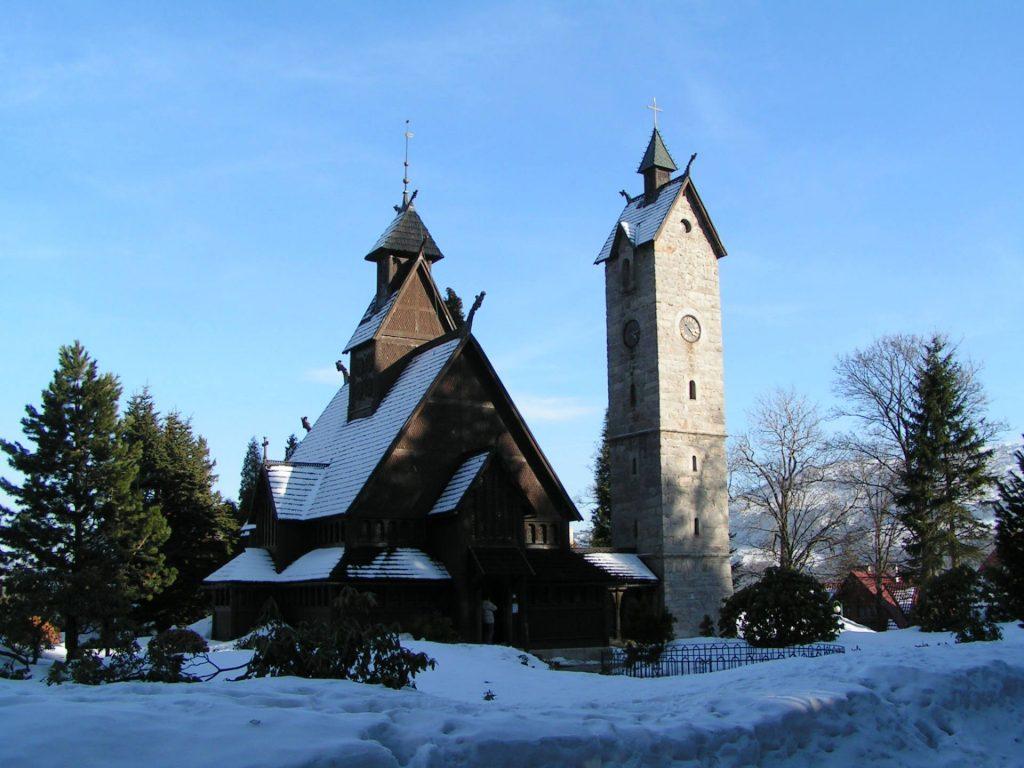 Zu sehen ist die Stabkirche Wang in Krummhübel, Bild: Stefan Kühn