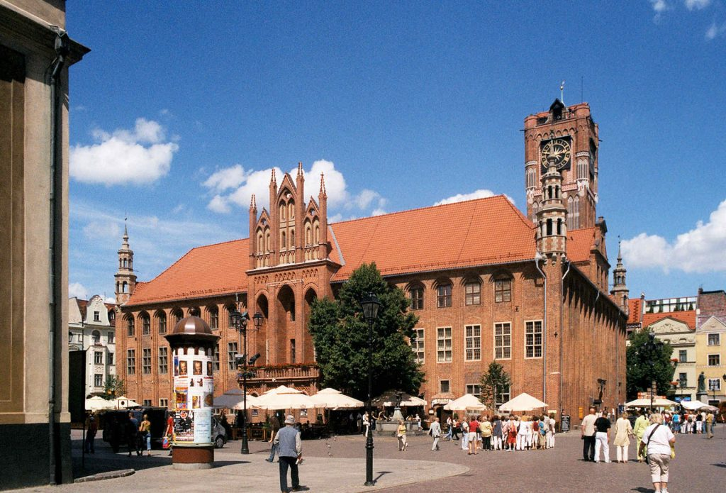 Zu sehen ist das Rathaus von Thorn, Bild: Pko