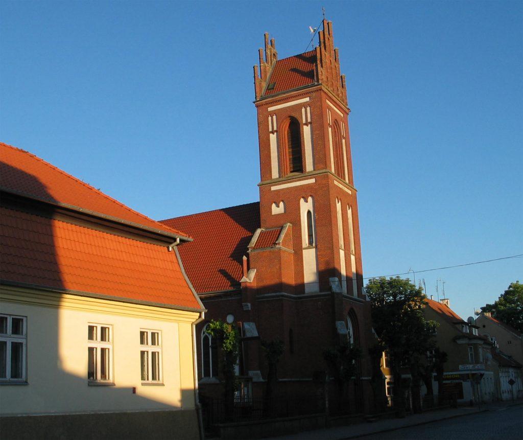 Zu sehen ist die St. Adalbert Kirche in Sensburg, Bild: I-TBS