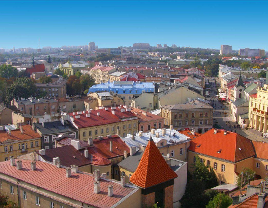 Zu sehen ist ein Panorama von Lublin, Bild: Lukaszprzy lukaszprzy@msn.com