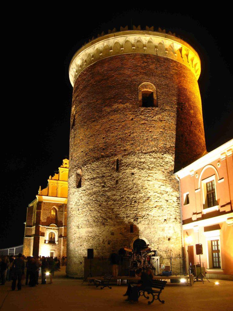 Zu sehen ist der Bergfried der Burg von Lublin, Bild: Szater