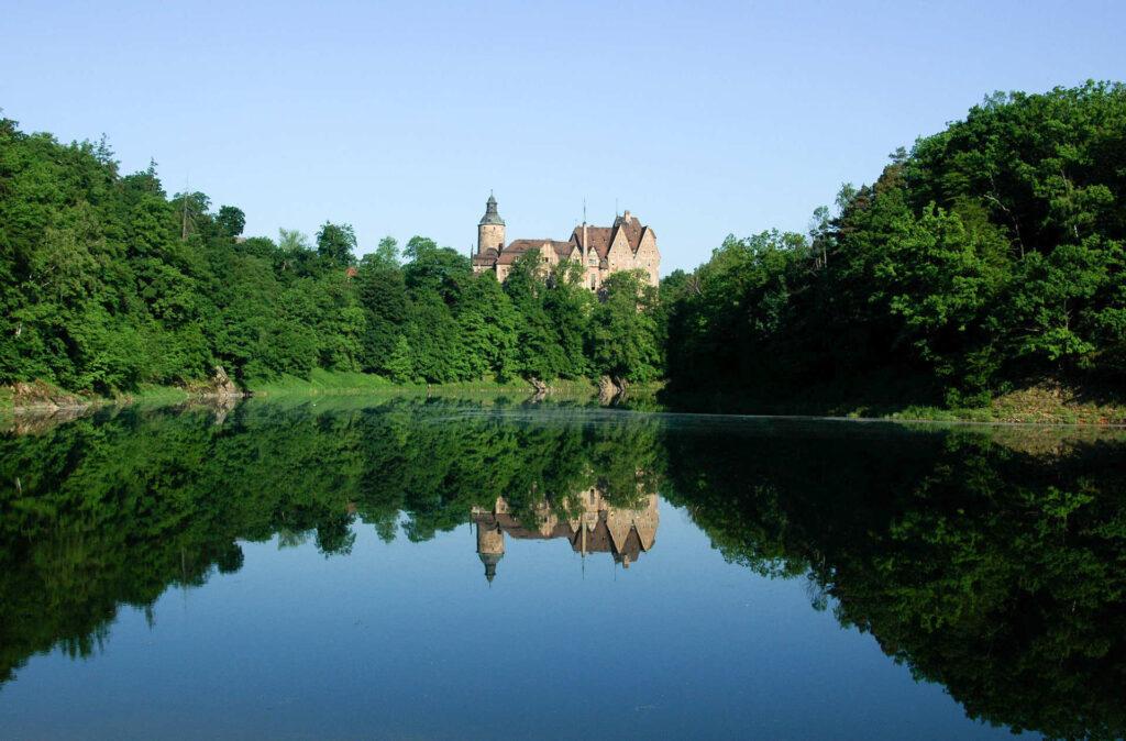 Zu sehen ist die Burg Tzschocha, Bild: ZeroJeden