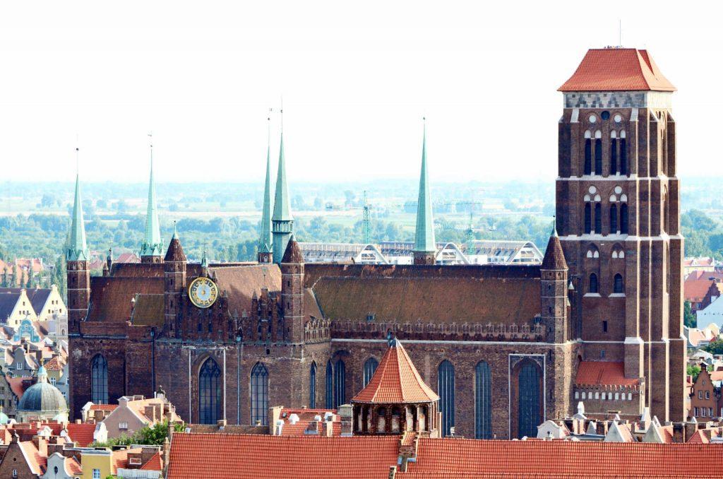 Zu sehen ist die Danziger Marienkirche, Bild: Brunswyk