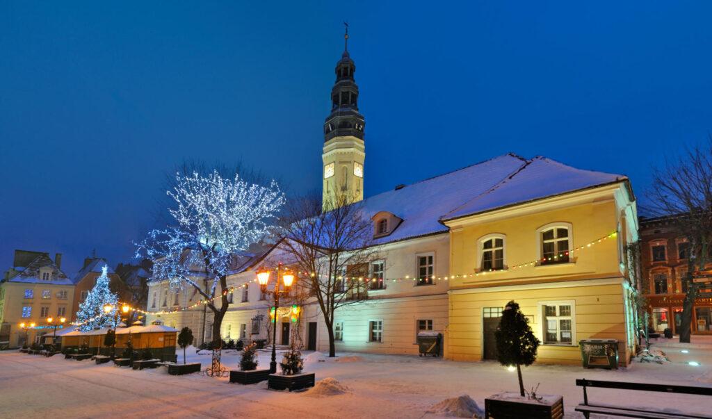 Zu sehen ist das Rathaus in Grünberg, Bild: Philozoph