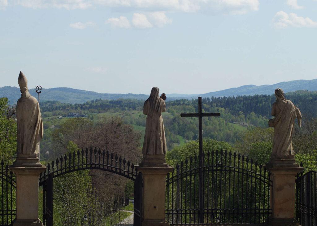Zu sehen ist ein Ausblick von der Kalwaria Zebrzydowsk, Bild: Sebastian B