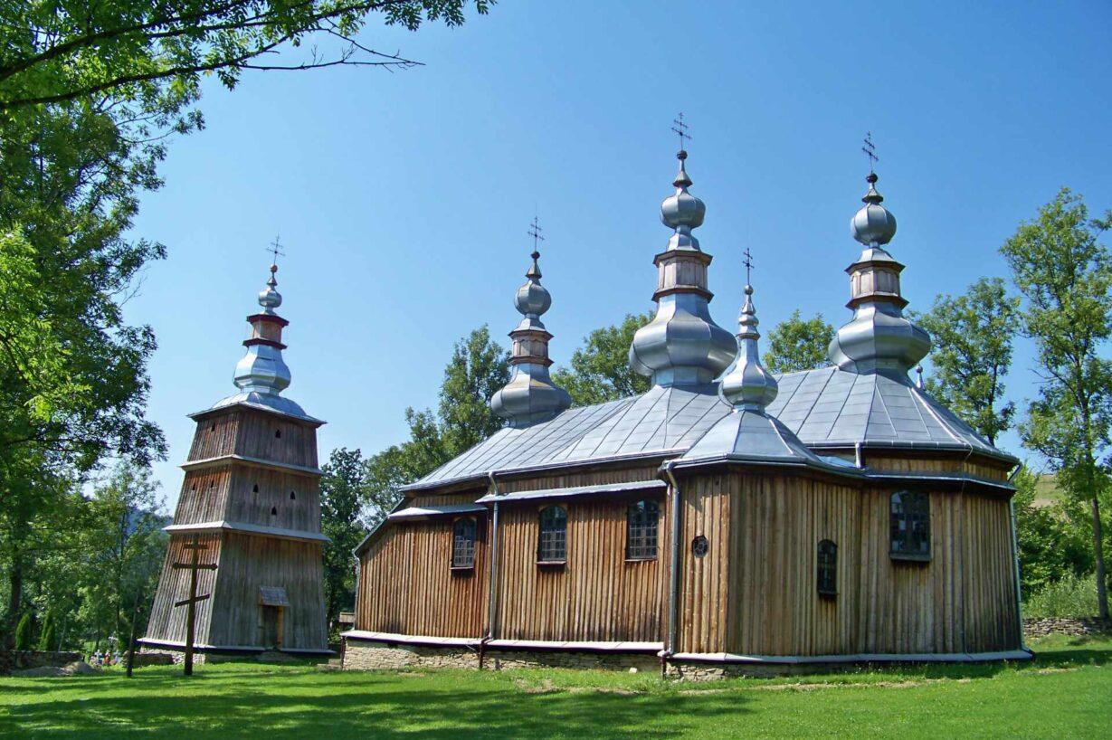 Zu sehen ist eine Holzkirche in Turzańsk, Bild: Verid1st