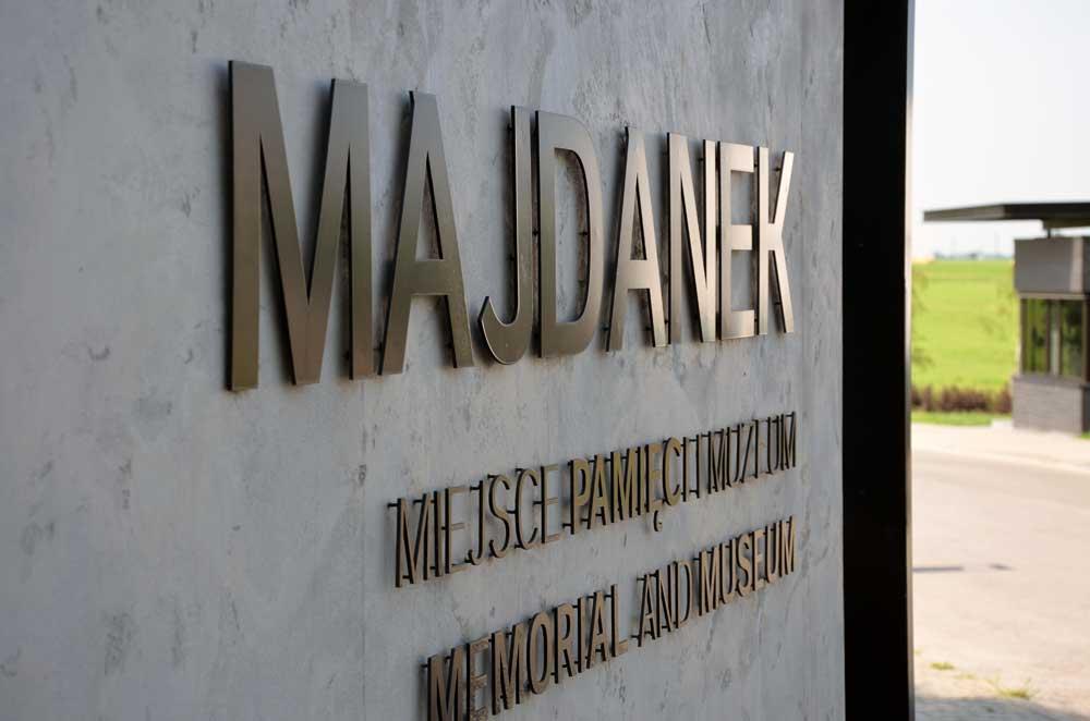 Gedenkstätte Majdanek. Eingang. Foto: Jens Hansel