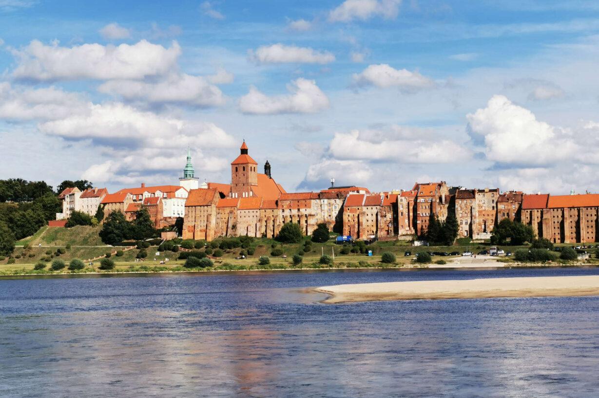 Zu sehen sind die Festung und die Weichsel in Graudenz, Bild: Sirleonidas
